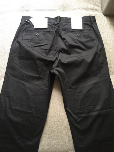 pantalón sport calvin klein b633 negro talla 30