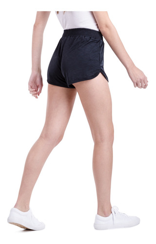 pantalon sporty short negro mujer le coq sportif