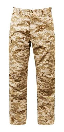 pantalon táctico cargo corte acu camuflado digital desert
