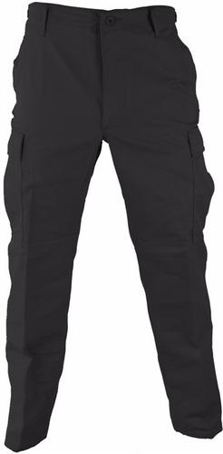 pantalon tactico cargo ripstop bombacha negro bdu