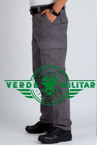 pantalón táctico comando policia seguridad militar otan gris