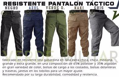 Pantalón Táctico De Vestir Gabardina Bolsas De Cargo ...