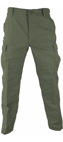 pantalon tactico ripstop verde corte bdu