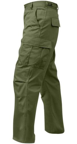 pantalón táctico rothco cargo ripstop bdu americano verde