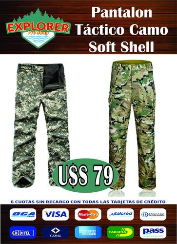 pantalón táctico soft shell camo