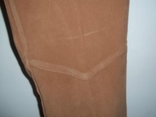 pantalon tela de gamuza camel con lycra t.44 sin uso