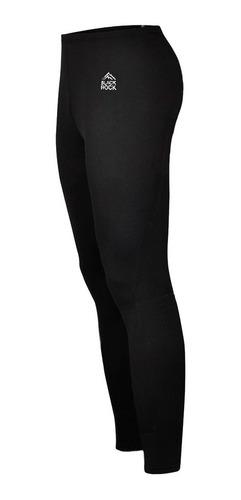 pantalón térmico frizado unisex negro - black rock