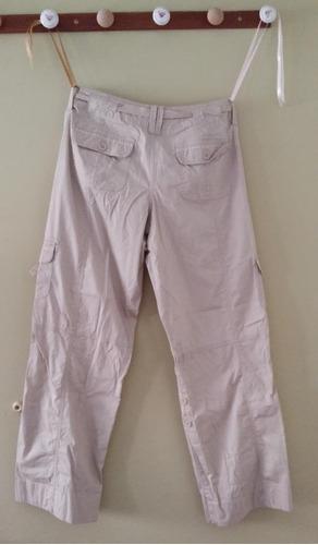 pantalon tipo cargo, color beige, talla 7-8, nuevo