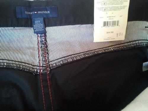 pantalon tommyl negro100%orig algodon talla 32,33x32 cod 321