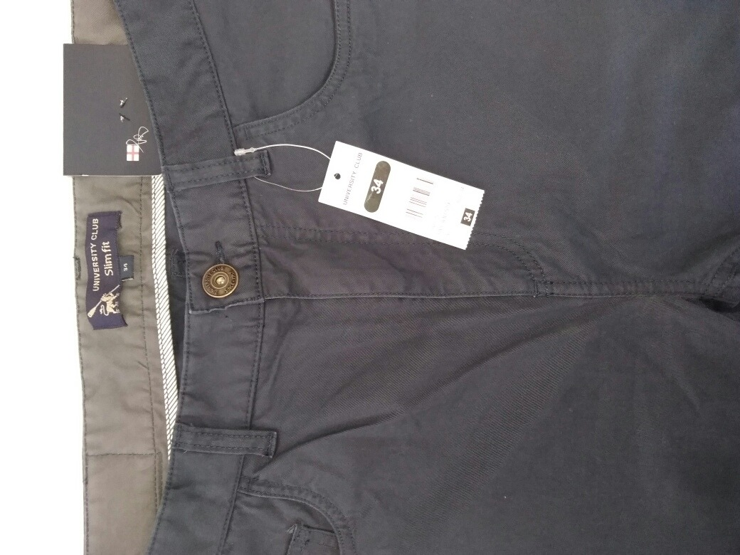 de8b684d24 Pantalón University Club Slim Fit Talla 34 Gris - S  59