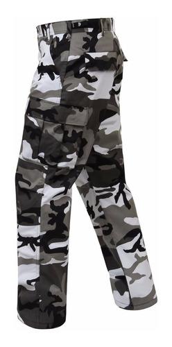 pantalon urbano blanco negro camuflado tactico rip stop