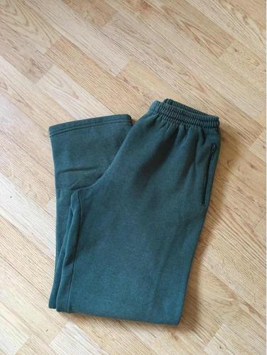 pantalón verde escolar jogging friza