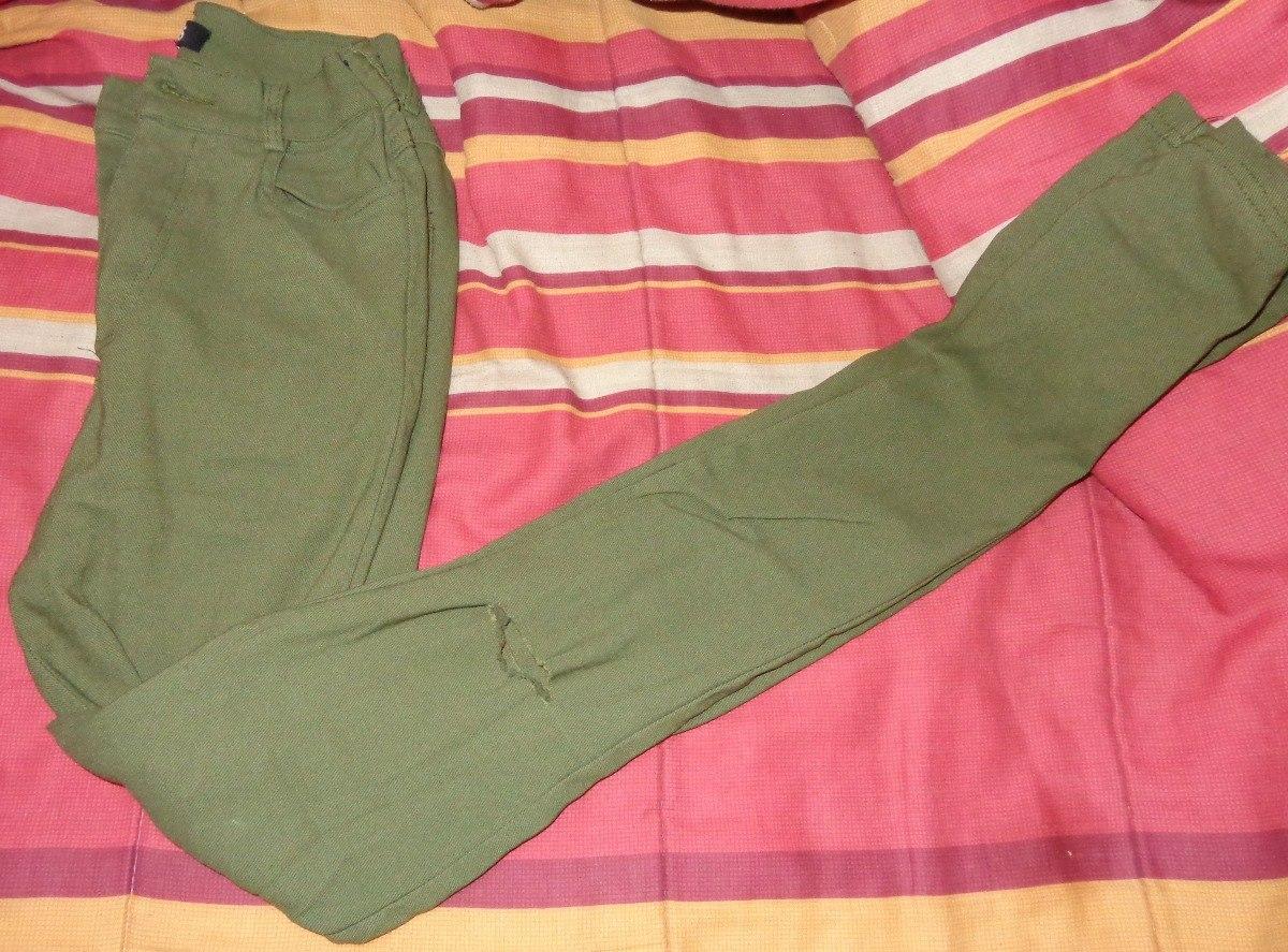 Pantalon Verde Militar Tiro Alto -   7.500 en Mercado Libre f487c074d3c7