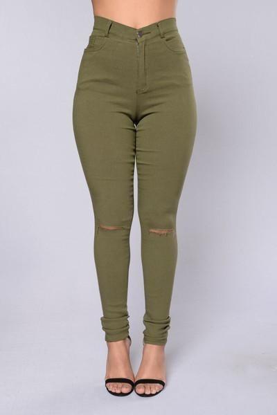 nueva llegada 9bf65 efe41 Pantalon Verde Militar Tiro Alto - $ 7.500