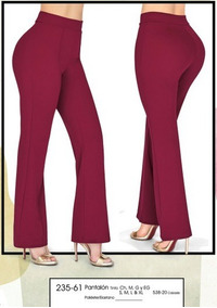 Pantalón Vestir Dama Color Tinto 235 61 Cklass Cfd Remate
