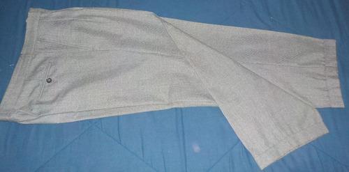 pantalón vestir, de invierno, pinzado con botamanga