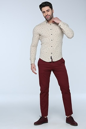 Pantalon Vestir Hombre Casual Color Vino Formal Graduacion