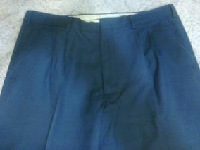 Pantalon Vestir Hombre Impecable Azul Oscuro Outer Gear T 48