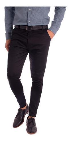 pantalon vestir hombre slim fit - saten o gabardina