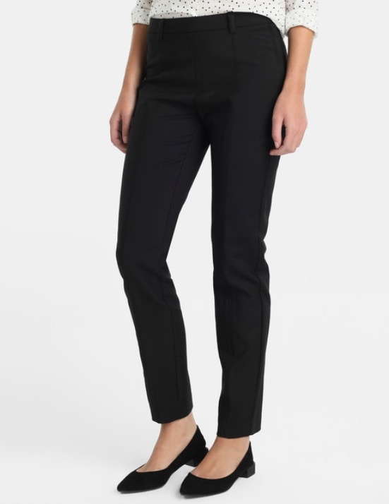 Pantalon Vestir Mujer Tiro Medio Recto Chupin -   395 90a00f462632
