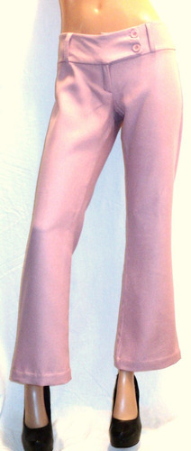 pantalón vestir mujer rosa talla1 cintura 72cm muy bueno