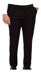 Pantalón Vestir Negro Ideal Para Mozo Mundo Trabajo