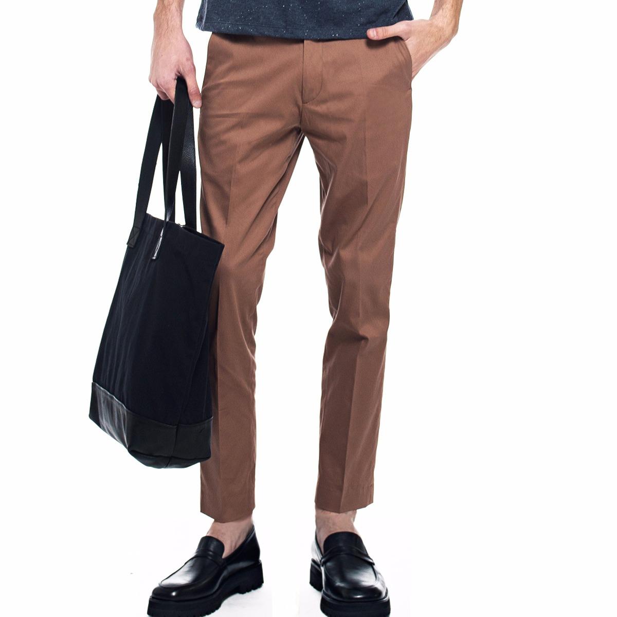 569b90c76 pantalon vestir slim fit gabardina vison   zorzaldelvaga. Cargando zoom.