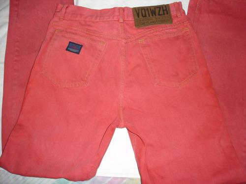 pantalón vintage stone island  denim color rojo ladrillo