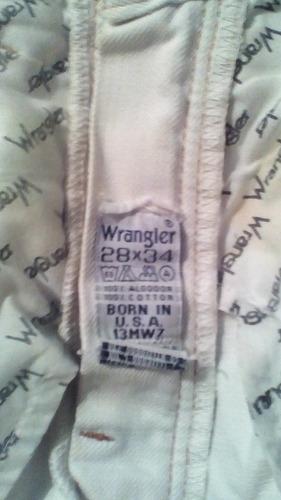 pantalon wragler talla 28 x34 blanco