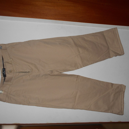 pantalon wrangler gabardina marron talle mediano masculino