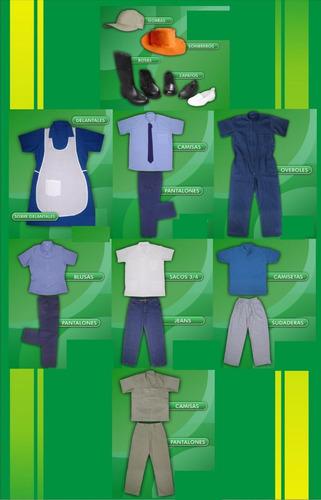 pantalon y camisa de dotacion ropa de trabajo dril medellin