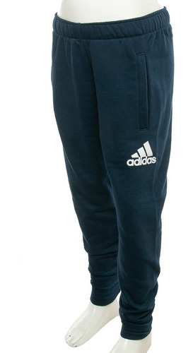 pantalon yb logo azul adidas