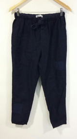 ef9f79082 Pantalón Zara Basic Con Cintura Elastizada Azul Talle 38