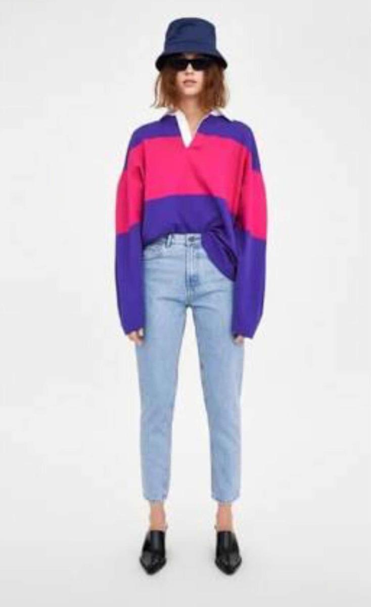 Pantalón Zara Mom Fit Mezclilla $ 399.00
