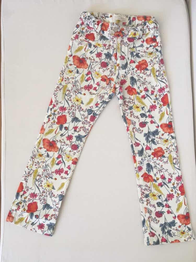 Pantalon Zara Niña Talle 78 Floreado. Traido De Francia