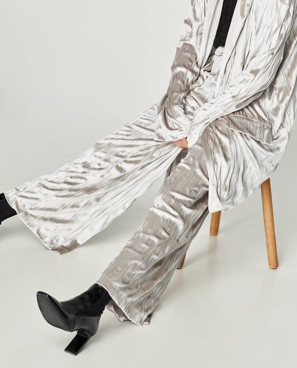 Pantalon Zara Palazzo Terciopelo