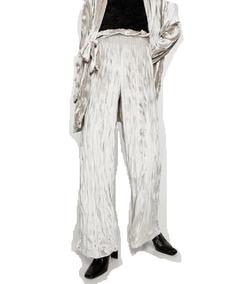 Pantalon Metalizado Plateado Pantalones Mujer Pantalones