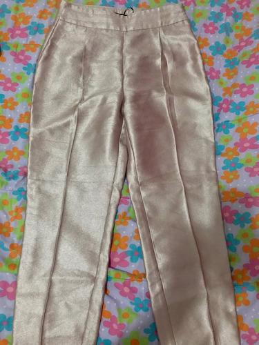 pantalón zara platinado