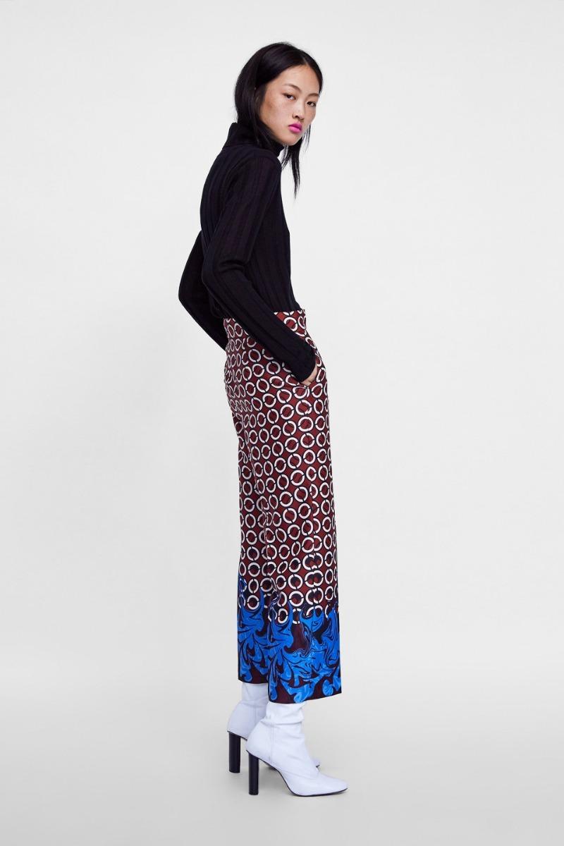 pantalon estampado geometrico zara chicfy