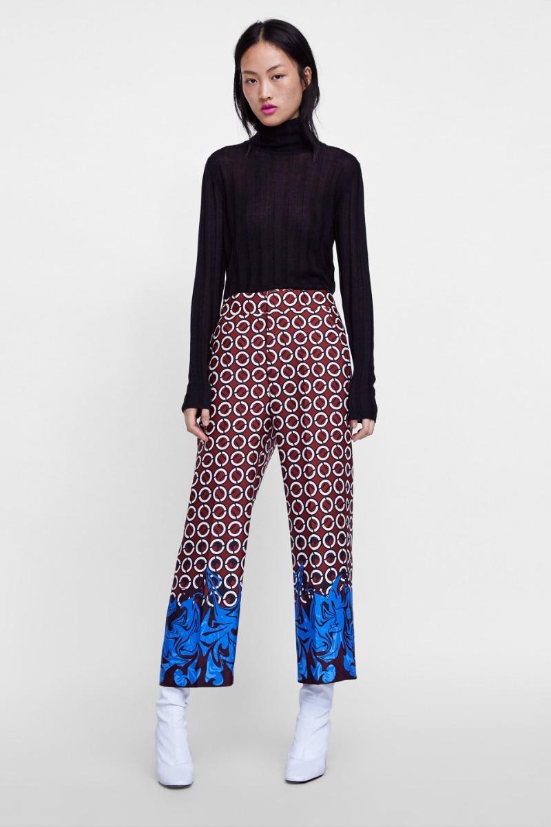 Estampado Vestir Vestir Pantalon Zara Estampado Geometrico
