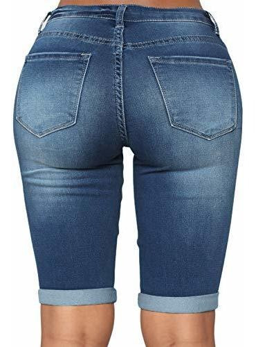 pantalone jeans para dama talla grande ajustado
