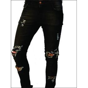 42ce291cf2 Jeans Mujer Rotos Elastizados Negro - Ropa y Accesorios Negro en ...