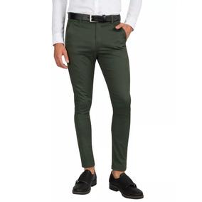 d435437ae0f4b Pantalon Corte Chino Chupin Elastizado