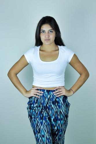 pantalones anchos aladinos estampados de dama