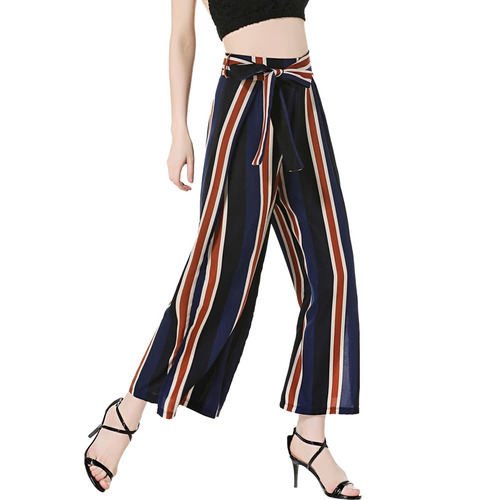 pantalones anchos de las mujeres azul escuro m