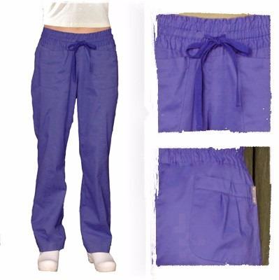 pantalones azul hospitalario para mujer talla ex-chica