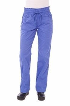 pantalones azul hospitalario para mujer talla mediana