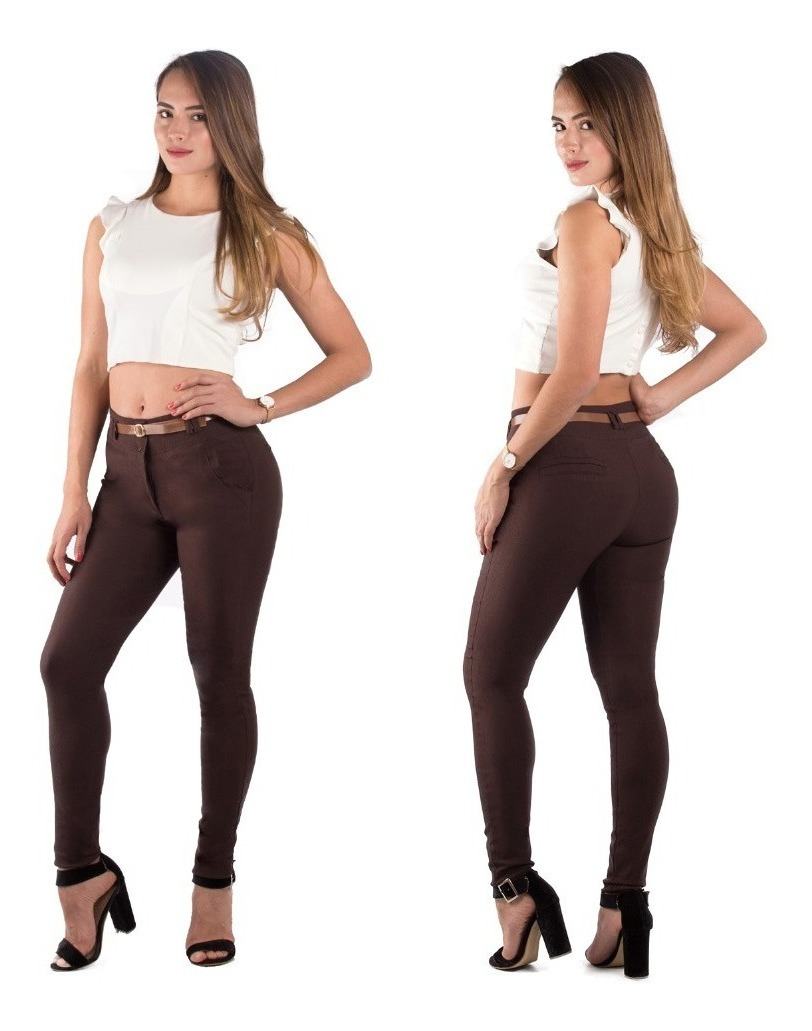 Pantalones Colombianos Jeans Dama Mezclilla Mujer Pushup ...