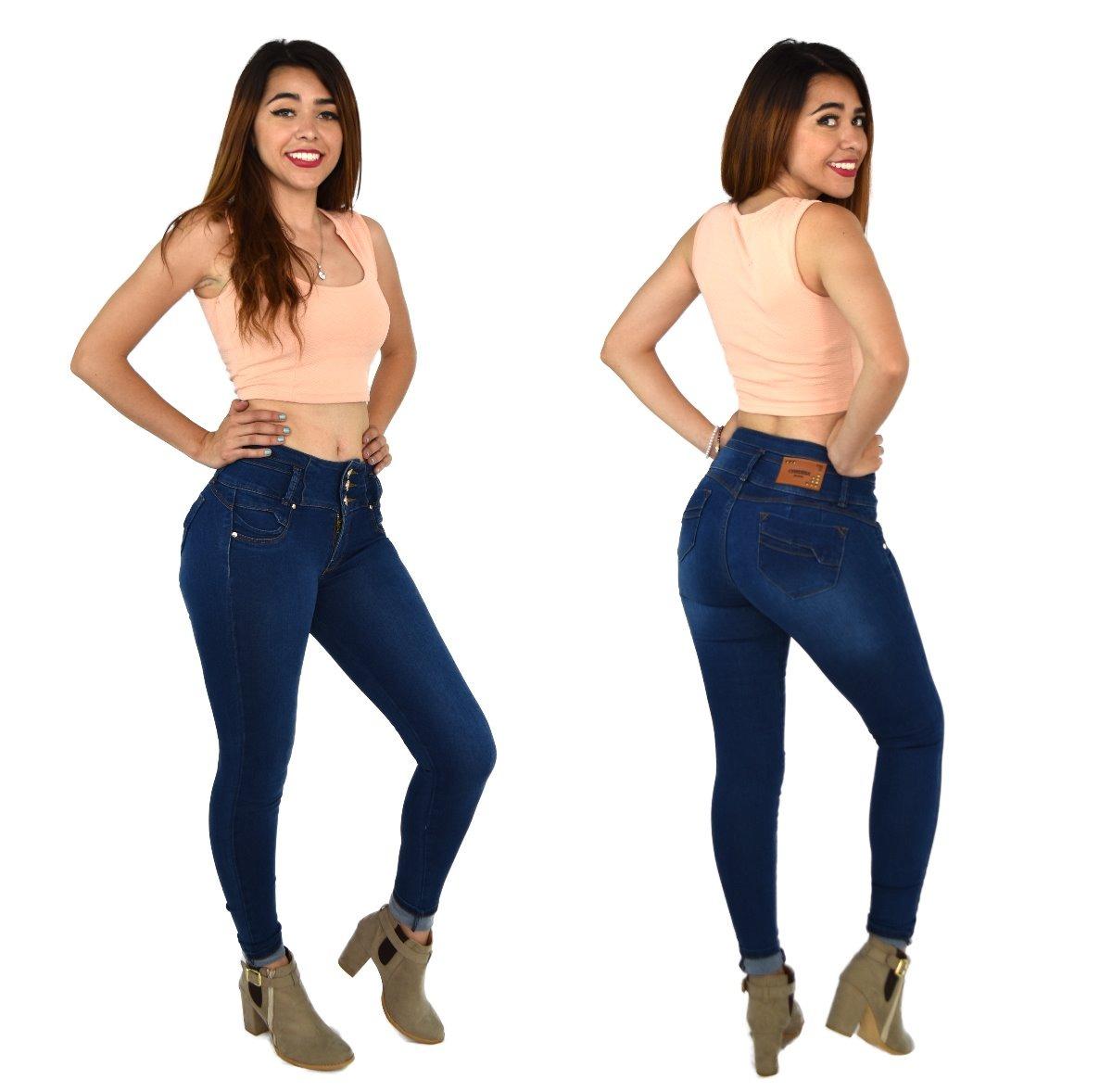 0fdb5bb6108 Pantalones colombianos jeans dama mezclilla push up cargando zoom jpg  1200x1178 Push up mujer bien pantalon