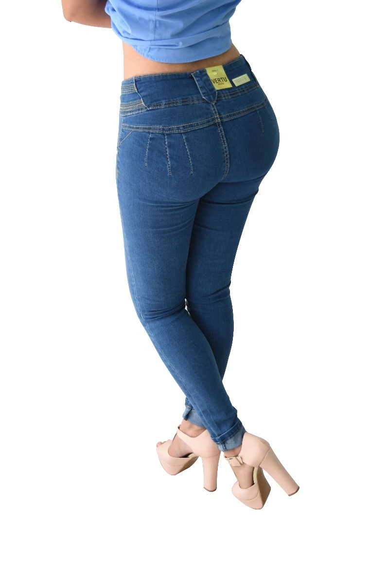 24c177d8313 pantalones colombianos jeans dama mezclilla push up v-f14. Cargando zoom.